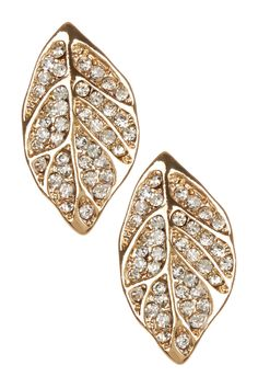 Dainty Leaf Pave CZ Stud Earrings on HauteLook.  Hmm, inspirations abounding.