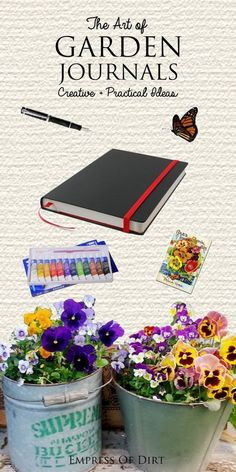 Garden journals can provide useful data records of our gardens plus they are also an opportunity to explore our artistic sides with drawing, painting, pressing flowers, calligraphy, and more. These idea-starters offer a great place to begin. #sponsored