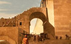 Robinson's Arch, as it may have looked during the time of Jesus in the 1st Century.