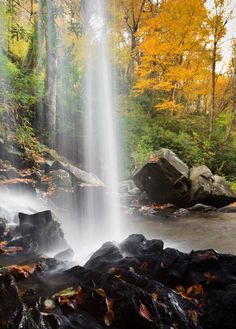 Grotto falls is a beautiful hike in the Smoky Mountains.