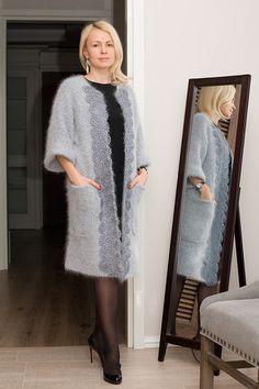 Knit Cardigan Pattern, Wool Cardigan, Angora Sweater, Oversized Cardigan, Mode Hijab, Crochet Fashion, Womens Scarves, Lana, Elegant