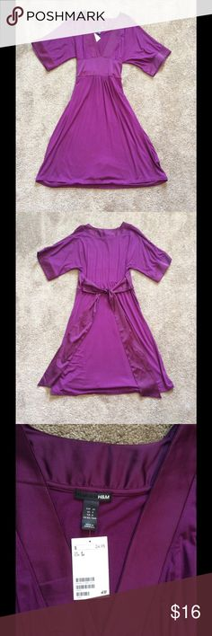 NWT H&M Purple Belted Dress NWT H&M Purple Belted Dress, Size 6 H&M Dresses