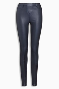 Buy Navy Pull On Coated Leggings from the Next UK online shop