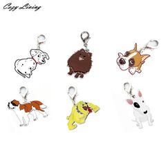 Pet Collars Pendant 25mm Dog Tag Disc Disk Pet ID Enamel Accessories Collar Necklace Pendant Various Breeds Pendants D17 #Affiliate