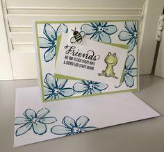 Friends are kind to eachother's hopes &   cherish each other's dreams!        Deze twee kaarten heb ik gemaakt met de SU stempelsets...