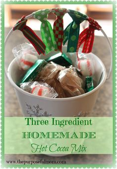 Three-Ingredient Hot Cocoa Mix - A Simple, Delicious DIY Christmas Treat! - The Purposeful Mom
