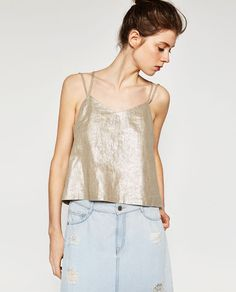 METALLIC TOP WITH LOW-CUT BACK