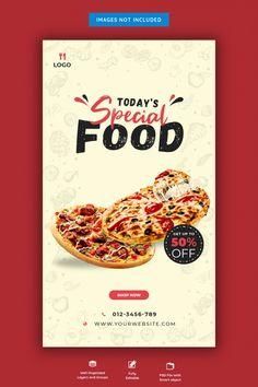 Social Media Banner, Social Media Design, Casa Pizza, Restaurant Menu Card, Starting A Restaurant, Bio Food, Roll Up Design, Food Banner, Food Poster Design