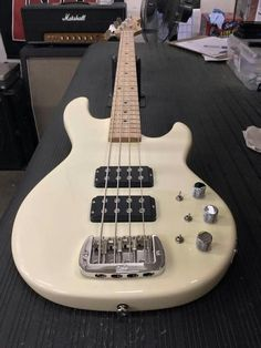Here's an L-2000 in Vintage White, maple neck with Clear Satin neck finish. CLF077899 is headed to G&L Premier Dealer Tone Shop Guitars in Addison, Texas. G&L Musical Instruments