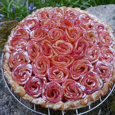 Tarte feuilletée aux pommes/roses