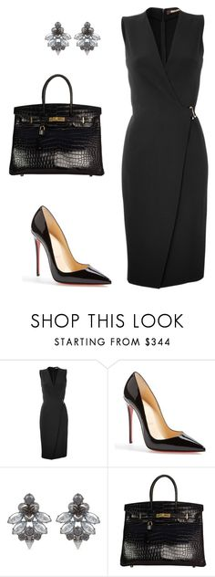 """style theory by Helia"" by heliaamado ❤ liked on Polyvore featuring Roberto Cavalli, Christian Louboutin, Mawi and Hermès"