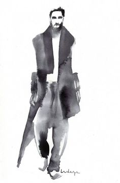 Fashion Illustration by Baiba Ladiga www.ladiga.co http://ladiga.tumblr.com INK/WATERCOLOR FASHION ILLUSTRATIONS
