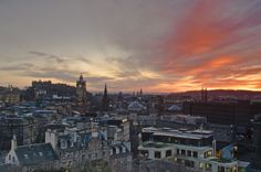 Edinburgh Sunset March 17 2012-re