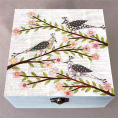 Whimsical Birds Jewellery Box, Birthday Gift, Christmas Gift, Wooden Box £30.00