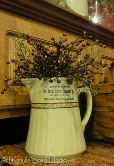 #Pitcher & #Berries #Home Decor