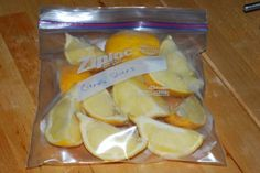 If you come across a great buy on lemons or limes and want to save some for later use, they can be frozen.