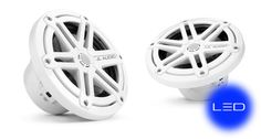 JL Audio Marine 6.5-inch coaxials (pr): Sport Grille, White, with LED illumination (Blue)