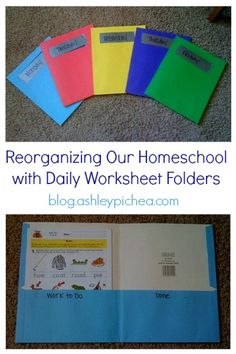 Homeschool Organization - Worksheet Folders