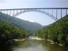 the new river bridge in west virginia, a very pretty spot!