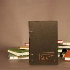 Rhino Namibia Rhodesia Coptic Bound Notebook Sketchbook Journal Scrapbook. $24.00, via Etsy.