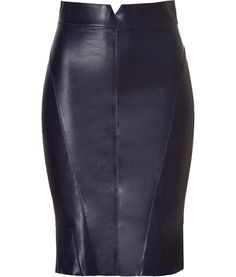 leather pencil skirt and tee | Black leather pencil skirt