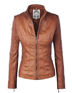 50% OFF SALE PRICE - $44.95 - MBJ Womens Panelled Faux Leather Moto Jacket