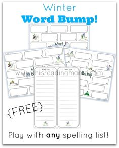 FREE Winter-Themed Spelling Game {Word Bump} ~ It works with any spelling list! | This Reading Mama
