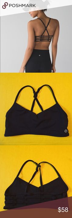 Lululemon hot spell bra Lululemon black hot spell bra, size 4, excellent condition with no flaws, super cute and hard to find! Bundle to save ❤️ lululemon athletica Intimates & Sleepwear Bras