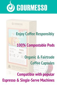 Gourmesso.com offers environmentally friendly Nespresso Machine compatible espresso at home. Espresso capsules are 100% compostable, offered in multiple flavors like White Chocolate, Pumpkin Spice, Ice Coffee, and many other Dark, Medium, and Light Roast blends.  | Flavored Espresso | Expresso pods | Espresso at Home | Compostable K Cups | Espresso Capsules | Fair Trade Coffee Pods | Compostable Coffee Pods | Espresso Recipes, Espresso Drinks, Espresso Maker, Coffee Recipes, Drink Recipes, Espresso How To Make, Espresso At Home, Espresso Machine Cleaner, Home Espresso Machine