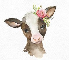 Farm Foal Calf Duckling Watercolor little animals clipart Etsy Baby Animal Drawings, Cute Drawings, Watercolor Animals, Watercolor Paintings, Animal Wallpaper, Animal Paintings, Nursery Art, Creations, Illustration Art