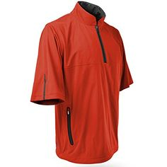 Sun Mountain RainFlex Short Sleeve Pullover 2015 OrangeSteel Large -- More details can be found by clicking on the image.
