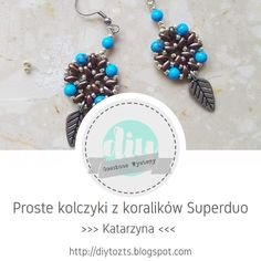 DIY - zrób to sam : GOŚCINNE WYSTĘPY / Katarzyna / Kolczyki z koralikó... Beading, Earrings, Diy, Jewelry, Fashion, Ear Rings, Moda, Bead, Stud Earrings