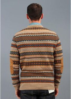 fair isle, good without elbow patches