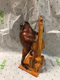 Vintage Frog Playing Bass Guitar Monterrey Mexico Collectible Gift | eBay