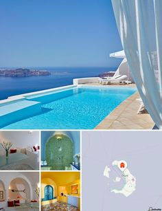 This complex is located on the western side of Santorini, high above sea level…
