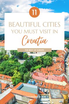 Croatia should be on top of your Europe destinations bucket-list! Discover the most beautiful cities in Mainland Croatia that surprised us the most during our visits to this amazing country! - Travel Croatia - Croatia Destinations - Europe Travel - Europe Best Destinations - The Best Of Europe - Travel Guide - Free PDF Checklist - Free Bucketlist