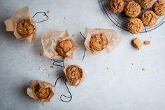Chewy Pumpkin + Coconut Muffins