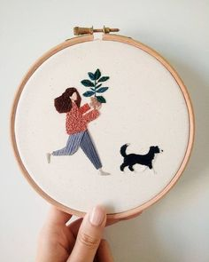 Simple Embroidery, Learn Embroidery, Hand Embroidery Stitches, Modern Embroidery, Embroidery Hoop Art, Hand Embroidery Designs, Cross Stitch Embroidery, Embroidery Ideas, Broderie Simple
