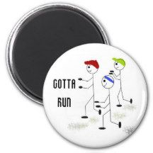 Gotta Run Motivational Magnet #running #fitness