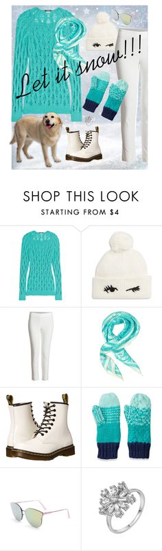 """Let it Snow"" by mary-gerstner-neyssen ❤ liked on Polyvore featuring Balmain, Kate Spade, Versace, Dr. Martens, SO, Winter and snow"