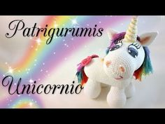 Unicornio Amigurumi!! - YouTube Knitted Dolls, Crochet Dolls, Crochet Clothes, Unicorn Youtube, Diy Paso A Paso, Amigurumi Tutorial, Crochet Unicorn, Baby Doll Clothes, Amigurumi Doll