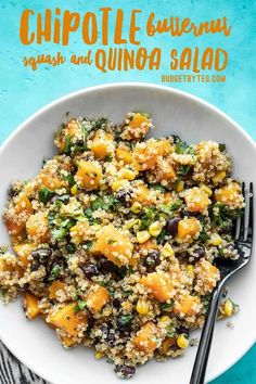 make ahead Chipotle Butternut Squash and Quinoa Salad holds up well in your refrigerator for fast and easy lunches all week! This make ahead Chipotle Butternut Squash and Quinoa Salad holds up well in your refrigerator for fast and easy lunches all week! Vegetarian Recipes, Cooking Recipes, Healthy Recipes, Drink Recipes, Cooking Tips, Quinoa Salad Recipes, Smoker Recipes, Vegetarian Dinners, Avocado Recipes