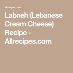 Labneh (Lebanese Cream Cheese) Recipe - Allrecipes.com