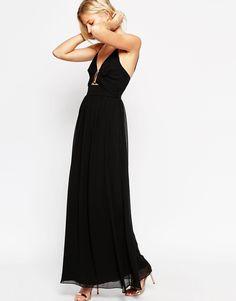Image 4 - ASOS TALL - Maxi robe en mousseline avec bordure dorée