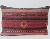decorative pillow 16x24 bohemian pillow case kilim pillow shabby chic furniture kilim pillow lumbar couch pillow organic pillow cover 25553
