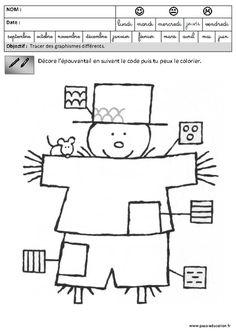 Fiches pédagogiques - Exercices - Graphisme – Maternelle – Grande section – GS - Pass Education
