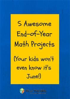 5 Awesome End-of-Year Projects to Keep Your Math Students Engaged - WeAreTeachers Math Teacher, Math Classroom, Teaching Math, Teacher Stuff, Classroom Ideas, Future Classroom, Teacher Tools, Teaching Ideas, Math Resources