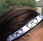 One Up Black and White Glasses Nerdy Non Slip Headband