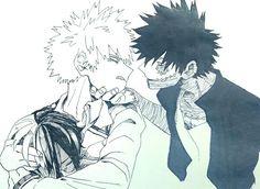 Boku no Hero Academia    Katsuki Bakugou, Todoroki Shouto, Dabi, My hero academia #mha