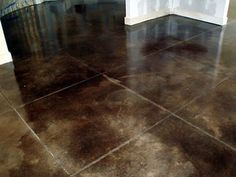 Concrete Basement Floor Slabs: Acid staining is a popular concrete treatment that allows you to achieve a natural, mottled look in a concrete floor, that will often resemble the hues of natural Marble and Granite.